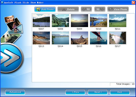 Flash Slide Show Maker - flash slideshow for website